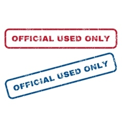 Official Used Only Rubber Stamps vector