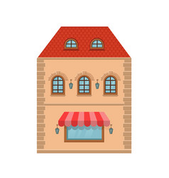 old european house with store on the ground floor vector image