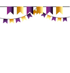 party element flags cartoon vector image