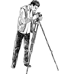 Photographer at work vector