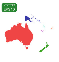 political map of oceania and australia icon vector image