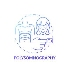 Polysomnography blue gradient concept icon vector