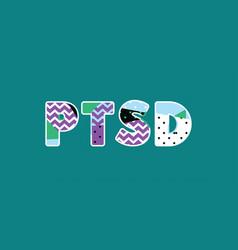 Ptsd concept word art vector