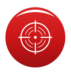 Rear sight icon red vector