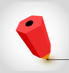 red pencil icon on white background vector image