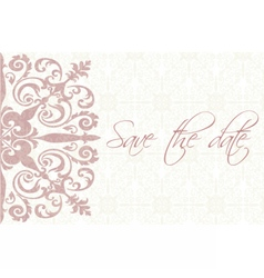 Save the date card with ornaments vector image