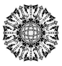 Scandinavian tattoo 0013 vector
