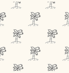 seamless geometric pattern with palms vector image