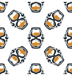 Seamless pattern of a stylized hourglass timers vector image