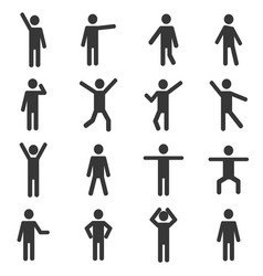 set of active human pictogram vector image
