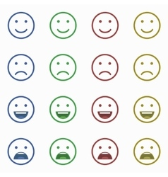Set of Emoticons Set of Emoji Set of Avatar vector image