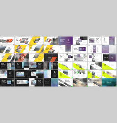 Set of minimal presentations portfolio templates vector