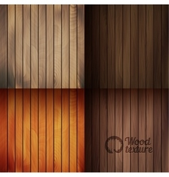 Set of wood texture backgrounds four colors vector