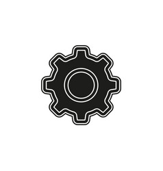 simple gear icon vector image