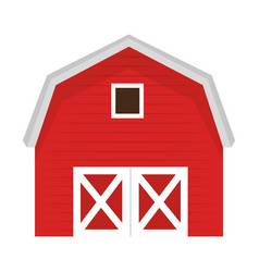 stable building isolated icon vector image