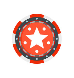 Star casino chip icon flat style vector