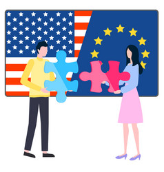 states international business usa and eu vector image