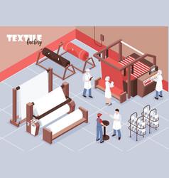 Textile factory vector