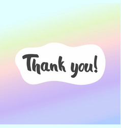 Thank you postcard background for design and vector
