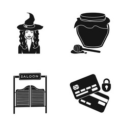 Tourism fairy tale and other web icon in black vector