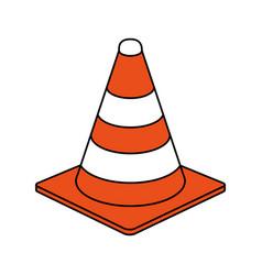 traffic cone design vector image