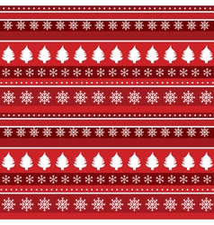 trees and snowflakes vector image
