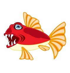 Tropical fish on white vector image vector image