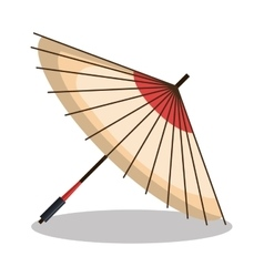 umbrella icon japanese graphic vector image