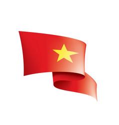 Vietnam flag on a white vector