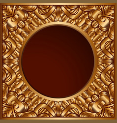 Vintage gold ornamental background vector