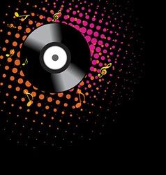 vinyl shape design vector image