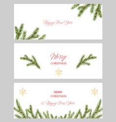 Watercolor christmas set cards with vector