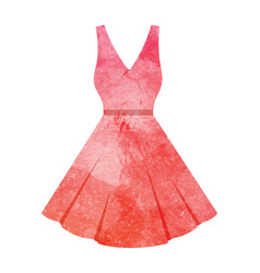watercolor dress on white vector image