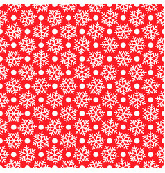 white snowflakes on red for christmas gift box vector image