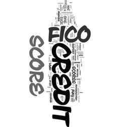 You and your fico score text word cloud concept vector