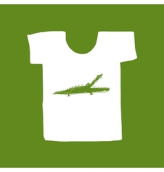 Crocodile sketch on white t-shirt for your design vector image vector image