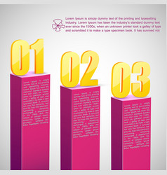 diagram template with text fields vector image vector image