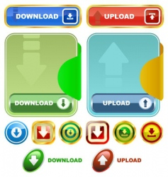 download buttons vector image vector image