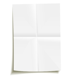 folded sheet of paper vector image vector image