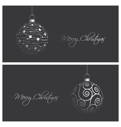 modern and elegant christmas card backgrounds vector image vector image