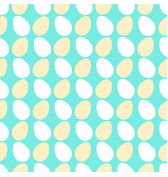 white cream egg seamless pattern vector image vector image