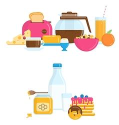 with Healthy Breakfast vector image