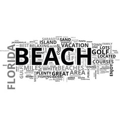 best florida beaches text word cloud concept vector image vector image