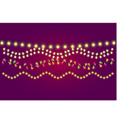 holidays christmas and new year lights collection vector image vector image