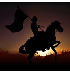 Horse and horseman vector