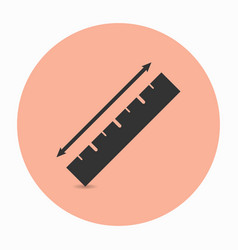 measurement ruler icon with arrow vector image