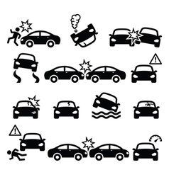 Road accident car crash personal injury vector image vector image