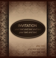 invitation card template in old style vector image