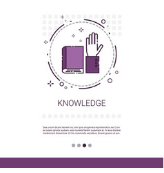 knowledge elearning education online banner with vector image vector image