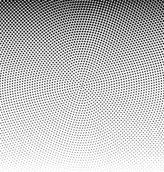radial dotted halftone background vector image vector image